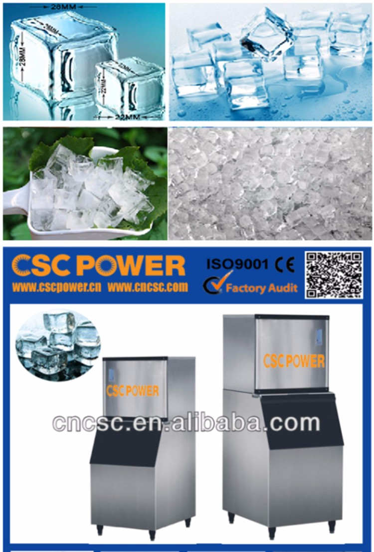 Industrial 1 Ton Ice Cube making Machine for Human Drinking ice systems