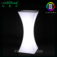 Beautiful flash color Bar high Led Light Table For Cocktail Party