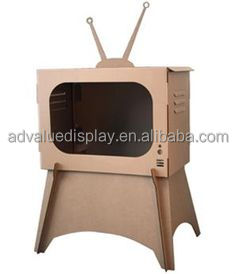 The cat condo itself paper Cat House Bed DIY Cardboard Cat Television Box