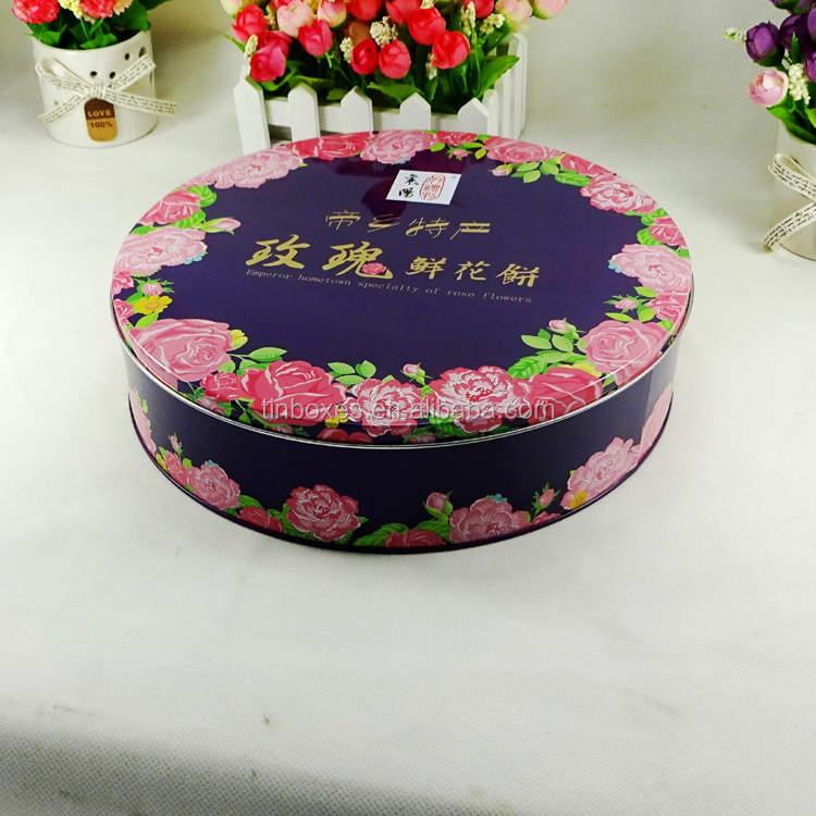 Hot sale food safe customized shape special gift packaging tin can