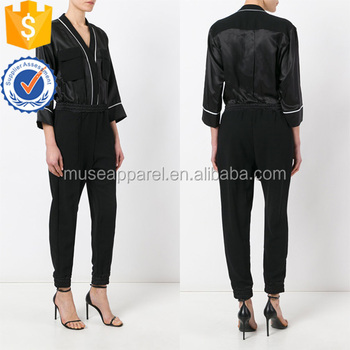 Latest Design Office Lady Black & White Long Sleeve Jumpsuit Women Apparel Wholesaler China Alibaba