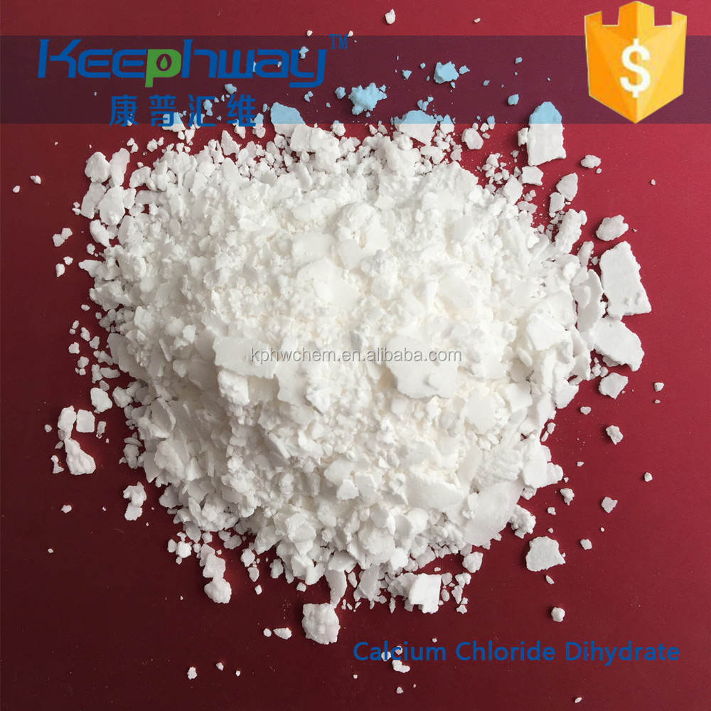 High Quality food grade Calcium chloride dihydrate CAS 10035 04 8
