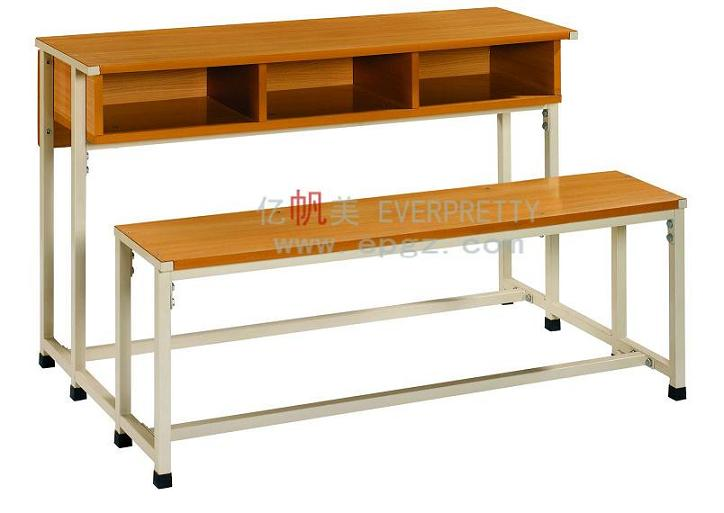 used wooden school desk and chair, student table and bench set