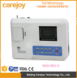 CE ISO approved Resting 12 leads Single channel Electrocardiograph ECG Machine EKG-901-2 with battery