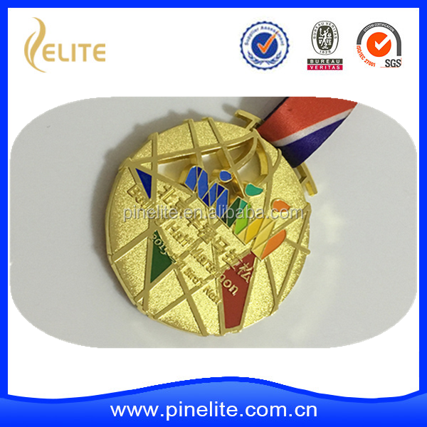 Free Design No Min Order metal die casting gold,nickel,bronze sports medal