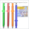 2017 New collect advertising pull out banner pen,QR CODE stylus pen, gel pen with phone stand