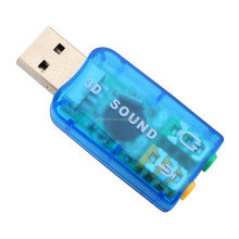 Audio 5.1 USB Sound Card External USB Sound Card Audio Adapter Mic Speaker Interface For Laptop PC