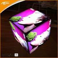Aluminum material cube led advertising display from Taiwan