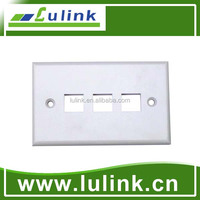 Electronic Engineering Plastic 3 Ports 120 Style Faceplate