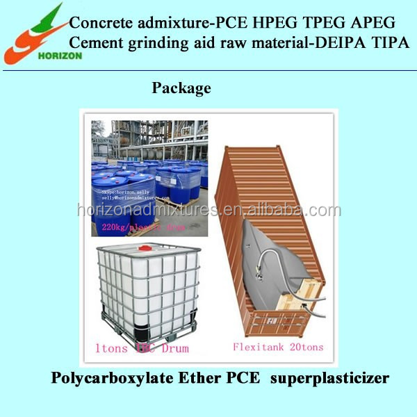 waterproof cement mortar additive polycarboxylate super plasticizer for ready mix cement plaster