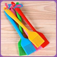 Custom Logo 21cm Silicone Basting Brush Factory , Wholesale BBQ Grill Brush Manufacture , High Quality Gadget DIY Baking Tools