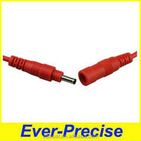 Red colour waterproof DC cable 3.5*1.35mm DC power cable male to female 0.2mm DC cable
