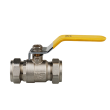 China manufacture nickel plated forged compression brass ball valve with level handle