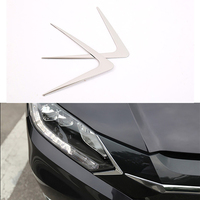 Free Shipping Car Headlight Triangle Chrome Strips ABS Decorative Trim Exterior Accessories For Honda HRV HR-V Vezel 2014 2015