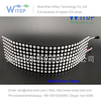 Colorful led 8*32 Full color WS2812B WS2812 5050 RGB SMD Flexible LED Panel Light DC5V use for make signs Pixel Matrix