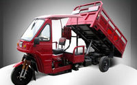 China top roof three wheel tricycle with self dumping hopper for cargo