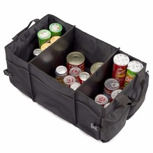 3 Sections Auto Trunk Organizer, Collapsable Cargo Car Trunk Organizer