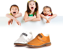 Spring New Wholesale Hollowing Out Breathable Kids Boys' Nude Shoes
