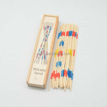 Wood Material Pick Up Stick Game Mikado Spiel Educational Toy