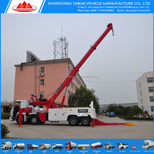 China Factory price 30 ton crane truck 25ton wheel lift 360 degree rotator rotary remote operation heavy duty rotator tow truck