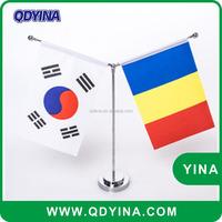 custom polyester national decorative table flag