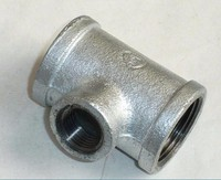 "1/8""--6"" Size Malleable Iron Pipe Fitting Reducing Tee"