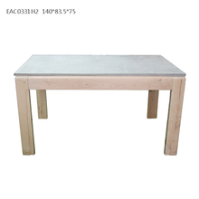 Fancy household knock-down wooden legs based outdoor concrete table