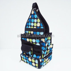 Cotton canvas custom craft dotted tote bag with multi pockets
