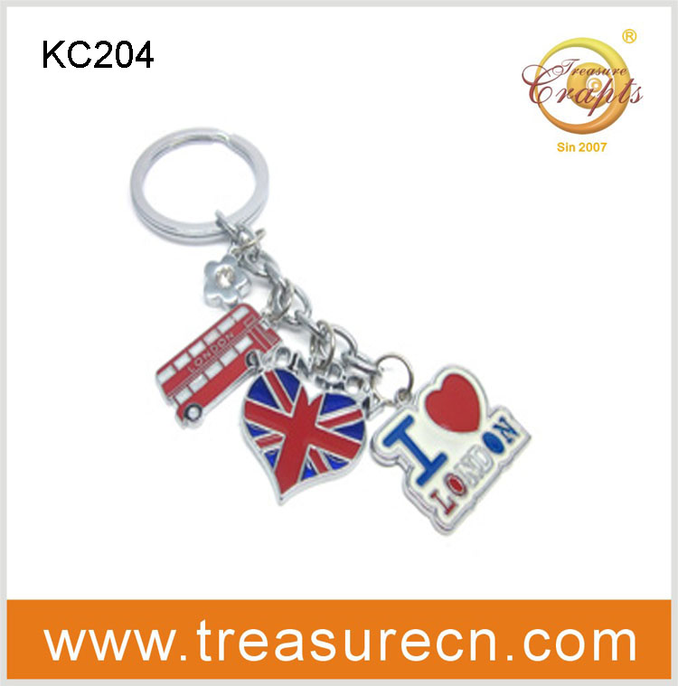 promotional car shaped metal keychain for London