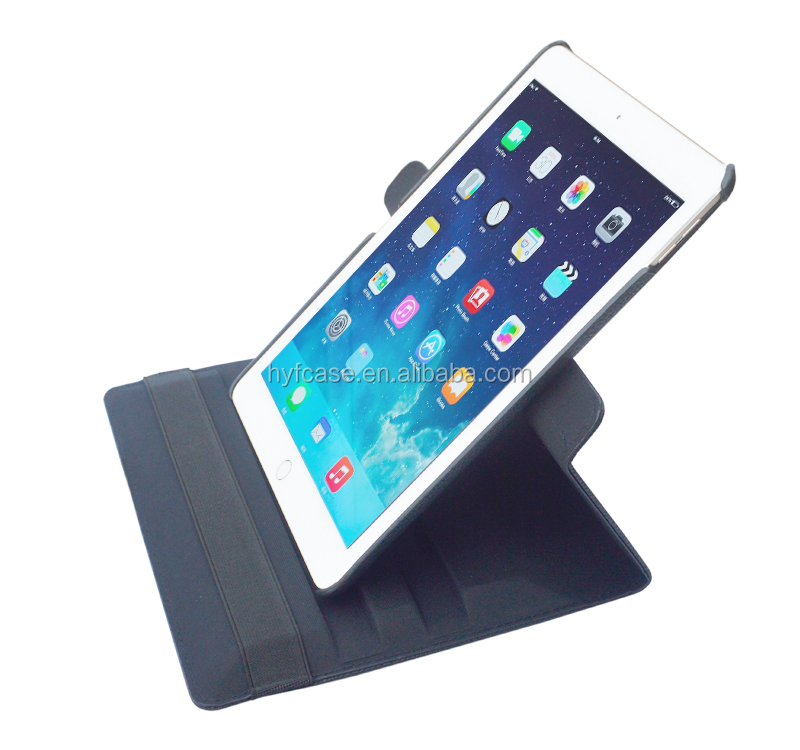 360 Degree Rotating Stand Smart Case Cover for iPad case,hot press tablet case for ipad air2