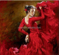 Single Panel Art Crafts modern people dancing painting