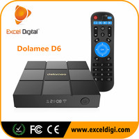 Oem Google Android6.0 Internet Tv Box Led Display Bluetooth4.0 Wifi 2.4g Dolamee D6 Ott Tv