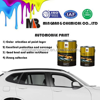 Heat Resistant 1k Pearl White Acrylic Car Base coat Paint