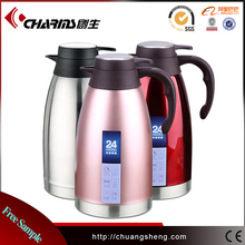 Double Walled Thermos Coffee Pot ,Stainless Steel Vacuum Coffee Pot With Press Button Top