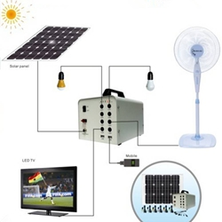 Off-grid high efficiency factory solar energy storage home lighting systems
