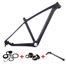 "SmileTeam China Cheap MTB Carbon Frame 29er Mountain Bike Disc Brake Carbon Frame 17.5/19"" Carbon Frame For BSA 2 Years Warranty"
