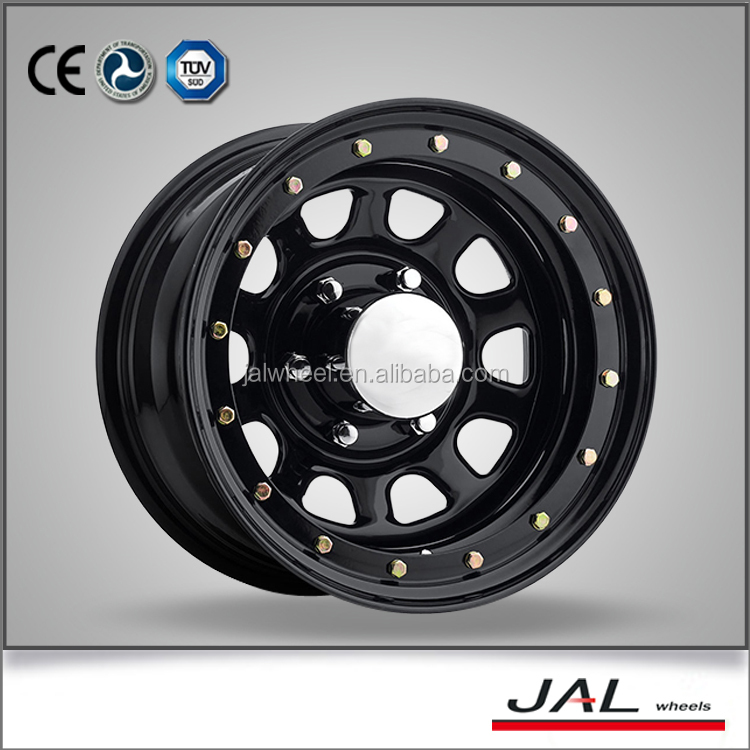 Factory price good quality 6 lug 15x10 true beadlock D Modular 4x4 steel wheel for SUV