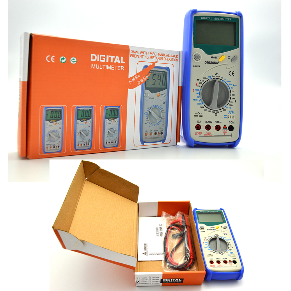 Diode and Triode Testing Digital Multimeter DT9205