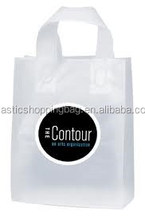 Transparent OEM Custom Your Logo Printed Plastic Soft Loop Bag