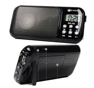 Digital mini Speaker with MP3+FM+Dispaly U-disk & TF card support playback (DW-SD-102)