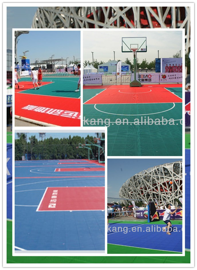 outdoor use,multi-functional,interlocking floor tiles for basketball/tennis/football