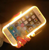 Mobile phone case for iphone 5 LED light selfie Phone Cover Luminous Mobile phone accessories for iphone 6