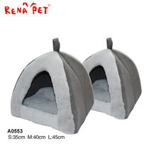 House shape cushion is movable polyester pet dog bed luxury