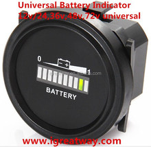 12v/24v,36v,and 72v Universal Battery discharge indicator for golf cart