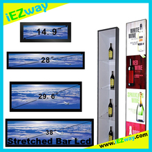 2017 iEZway Whole Sale China Factory Alibaba Com 14.9 19 28 32 38 42 inch Ultra Wide Customized Stretched Bar Lcd