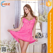 HSZ-210# Wholesale Sexy Flannel Nude Lace Lingerie Sexi Hot Girl Babydoll Nightdress