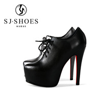 D123 Fantastic 2017 New arrival red bottom heels super high platform shoes