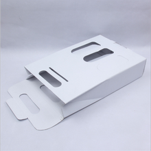 Wine Customize Fold Gift Paper Box 3pcs Packing Stock 350g White Paperboard Stock 270*85*390mm 50g