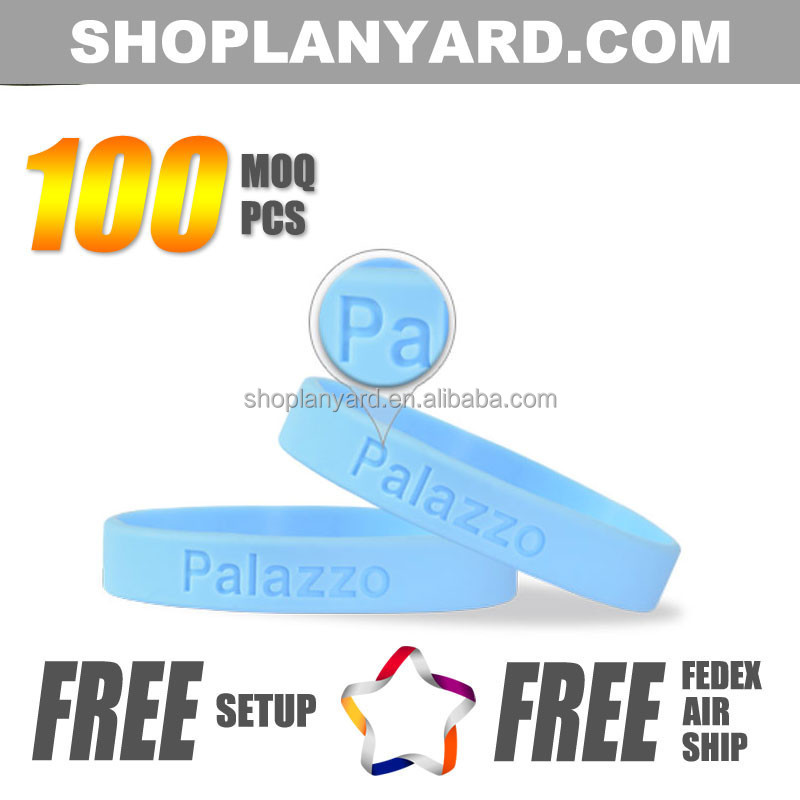 China Branded Wristbands Debossed Silicone