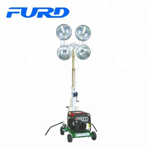 Hydraulic operated portable Diesel Mobile Light Tower 4x1000W